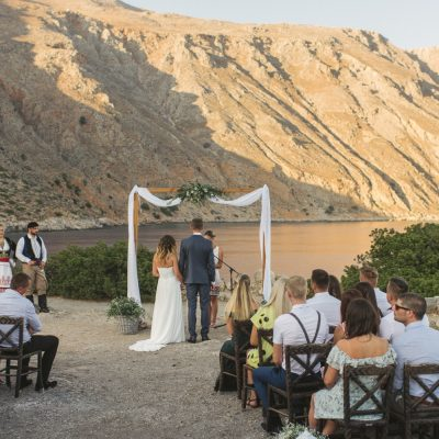 seaside wedding ceremony in Crete
