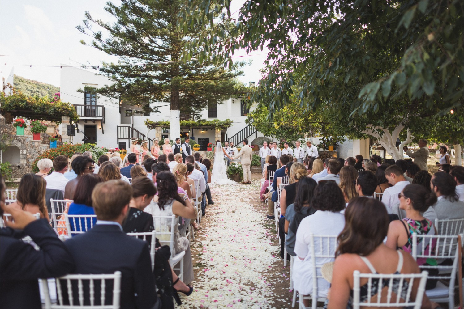 winery wedding ceremony in Crete