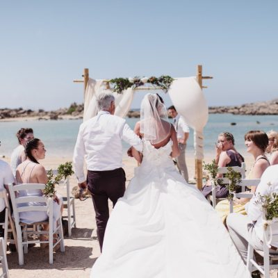 beach wedding ceremony in Crete