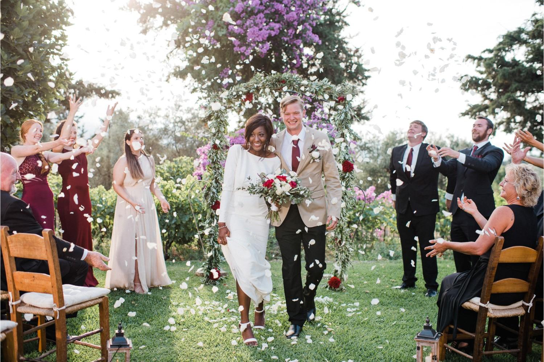 winery wedding ceremony in Crete