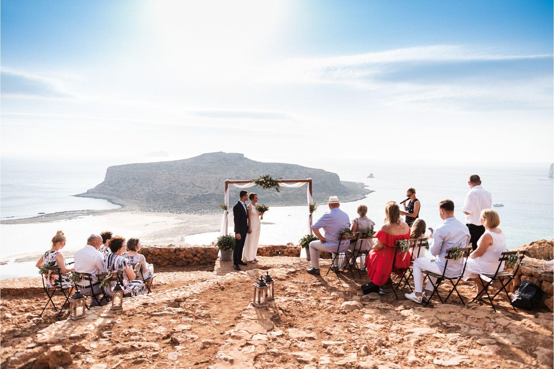 beach wedding ceremony in Balos Lagoon