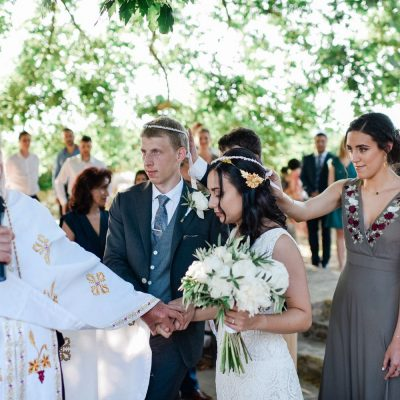 Greek Orthodox wedding ceremony in Crete