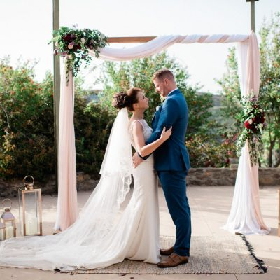 wedding ceremony at exotic gardens in Crete