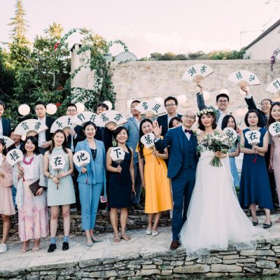Chinese wedding in traditional mountain rustic villa in Crete