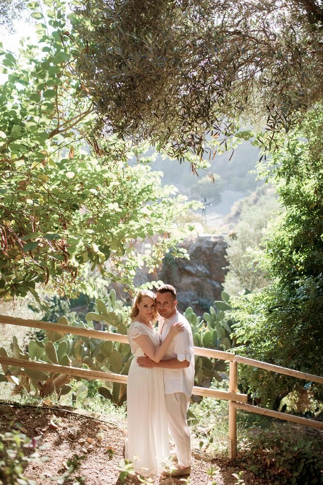 Garden elopement in Chania Crete